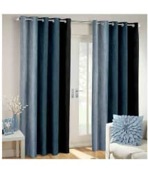 Laying Style Set of 2 Window Eyelet Curtains Solid Multi Color