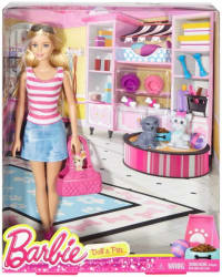 Mattel Barbie Doll and Pets w 2 Puppies Puppy Carry Purse & Accessories Mattel (Multicolor)