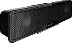 Philips SPA75/94 4 W Laptop/Desktop Speaker (Black, Stereo Channel)
