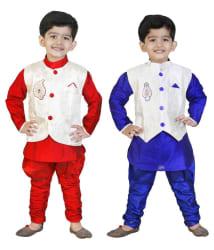 Generation Next Multicolor Silk Indowestern Set - Pack of 2