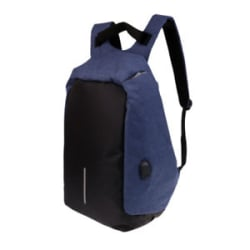 Details about Anti-theft Mens Laptop Notebook Backpack USB Charging Port School Bag Blue