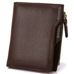 Details about Bogesi PU Leather Bifold Wallet Credit Card Holder for Men s (Brown)