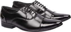 Andrew Scott Men s Black Synthetic Lace Up For Men (Black)