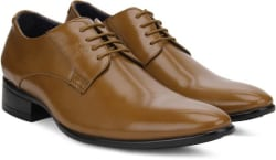 Peter England PE Lace Up Shoes For Men (Tan)