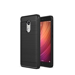 GREEN APPLE Redmi Note 4(5.5 inch)(Black) Rugged Armor Carbon Fiber Silicon TPU Protective Bumper Case With Shock Proof (Air Cushion Technology)