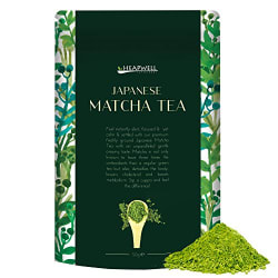 Japanese Matcha Green Tea Powder 50g - By Heapwell Superfoods - LIMITED LAUNCH PRICE!