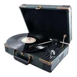 Gpo Ambassador Vinyl Record Player (Green)