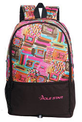 POLE STAR HERO Polyester 32L Pink & Brown Casual Backpack (45 x 32 x 24 CM)