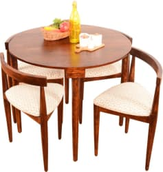 Home Edge Nathaniel 4 Seater Dining Set (Finish Color - Teak)