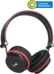 boAt Rockerz 400 Wireless bluetooth Headphone  (Black and Red, Over the Ear)