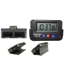 Dashboard AC Vent Digital Clock - Black