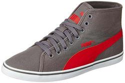 Puma Men s Elsu V2 Midcv Grey and Red Sneakers - 7 UK/India (40.5 EU)