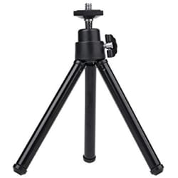 mStick Black Mini Tripod Aluminum Metal Lightweight Tripod Stand For Point & Shoot Camera , Smartphones Etc.