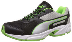 Puma Men s Black, Silver, Green Gecko and White Running Shoes - 8 UK/India (42 EU)