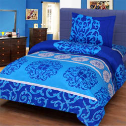 Home Elite Cotton Paisley Single Bedsheet  (1 Bedsheet, 1 Pillow cover, Multicolor)