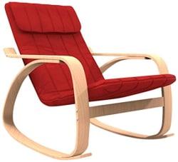 Forzza Elly Kid s Rocking Chair (Matt Finish, Red)