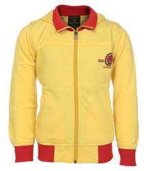 Haig-Dot Yellow Fleece Hooded Jacket For Boys
