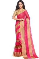 sarngin boutique Woven Kanjivaram Art Silk Saree  (Pink)