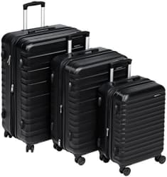 AmazonBasics Hardside Suitcase Set with Wheels, 20\