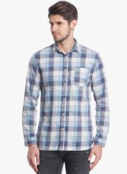Multicoloured Checked Regular Fit Casual Shirt