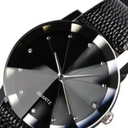 Details about  Men Luxury Stainless Steel Quartz Military Leather Sport Band Dial Wrist Watch