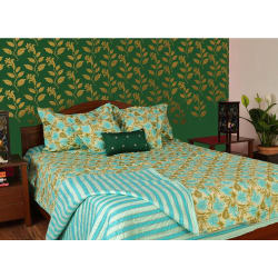 Turu Comforter Set of 5 Sea Breeze, green