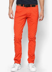 Orange Slim Fit Chinos