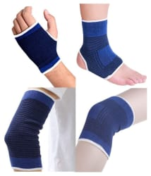 QLS Blue Support for Palm,Ankle,Knee,Elbow - Pack of 4