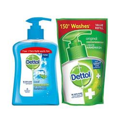 Dettol Liquid Handwash - 200 ml (Cool) with Free Liquid Handwash - 175 ml (Any Variant)