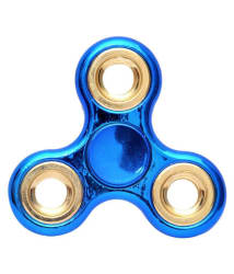 Chrome Classic Blue Fidget Spinner