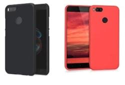 Xiaomi Redmi MiA1 Black and Red Soft Silicon Set of 2 Combo
