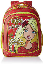 Barbie Polyester 16 Inch Red and Yellow Children s Backpack (Age group :6-8 yrs)