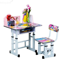 RoyalOak BARBIE_PINK Engineered Wood Study Table (Finish Color - Pink)