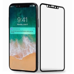 Details about  IPHONE X Black Border Full Cover Temper Glass Screen Protector Apple iPhone X