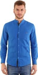 Rapphael Men s Solid Casual Blue Shirt