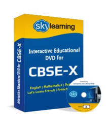 CBSE Class 10 CD/DVD Combo Pack (English, Maths, Science, French)