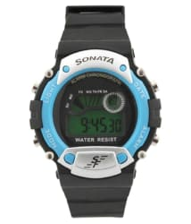 Sonata Black Digital Watch