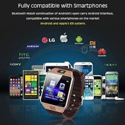Details about DZ09 Smartwatch Phone For Android IOS Bluetooth,Camera,Sim&Memory Slot
