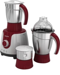 Philips HL7710 /00 600 W Mixer Grinder (Red, White, 3 Jars)
