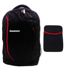 Lenovo Black Laptop Bags with 15.6-inch Laptop Notebook Sleeve -Combo
