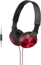 Sony MDRZX310APRCE Wired Headset with Mic (Red, Over the Ear)