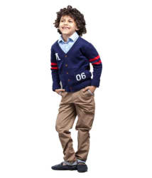 One Friday Navy Boys Knitted Cardigan