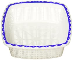 Nayasa Plastic Jingle Basket Set No 2, Set of 3, Blue