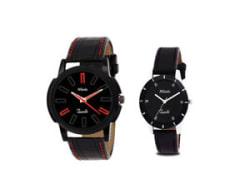 Details about  Mikado Couple Round Shape Black Analog Wrist Watch (TASHAN COUPLE WATCH)