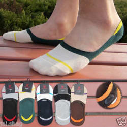 Details about  Unisex Cotton Mix Loafer Socks Invisible with Silicone Grip Low Cut Ankle Socks