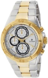 Titan Regalia Chronograph Analog Silver Dial Men s Watch - NE9308BM01J