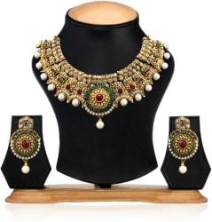 Zaveri Pearls Zinc Jewel Set (Multicolor)