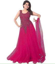 CHUNARLIFESTYLE Anarkali Gown (Purple)