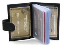 Details about 12 cards Leather Soft Black/ Brown Credit Card Holder Wallet