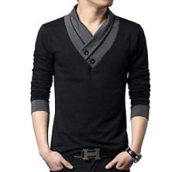 Details about Tshirt Fashionable t shirt-Designer-V-neck-Men
